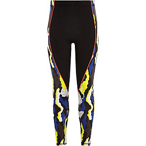 Girls RI Active blue camo sports leggings
