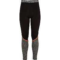 Girls RI Active black panel sports leggings