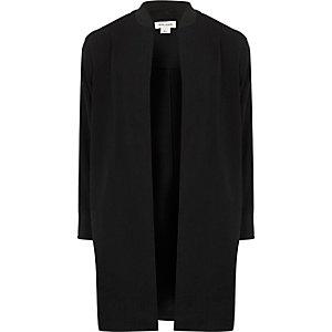 Zwarte sportieve dusterjas voor meisjes