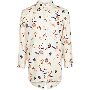 Girls white print shirt