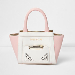 Girls pink laser cut winged tote bag