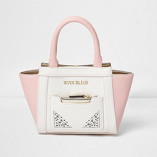 Girls pink laser cut winged tote bag