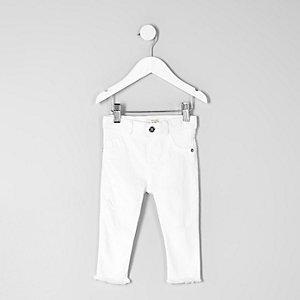 Molly – Jean skinny court blanc pour mini fille