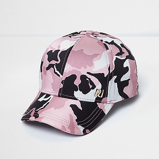 Girls pink camo cap