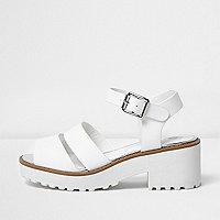 Sandales blanches à semelles épaisses pour fille