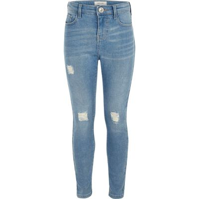 Amelie Lichtblauwe skinny jeans voor meisjes