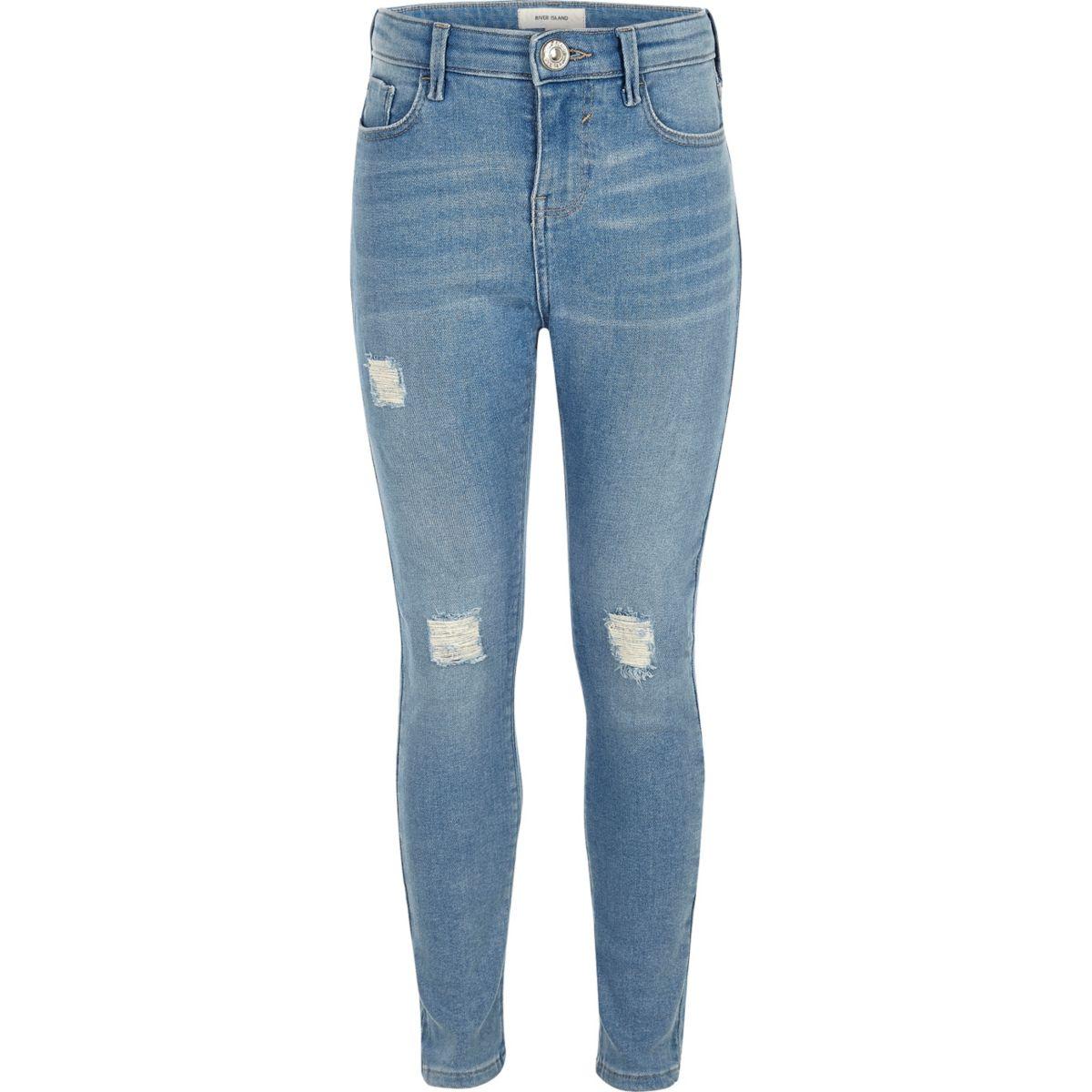 Girls light blue Amelie skinny jeans
