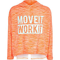 Girls RI Active coral sports hoodie