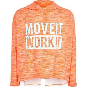 RI Active - koraalrode 'dance' hoodie voor meisjes