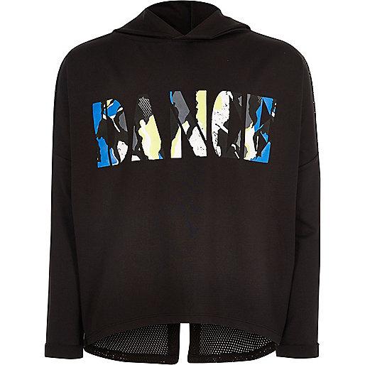 Girls RI Active black dance sports hoodie