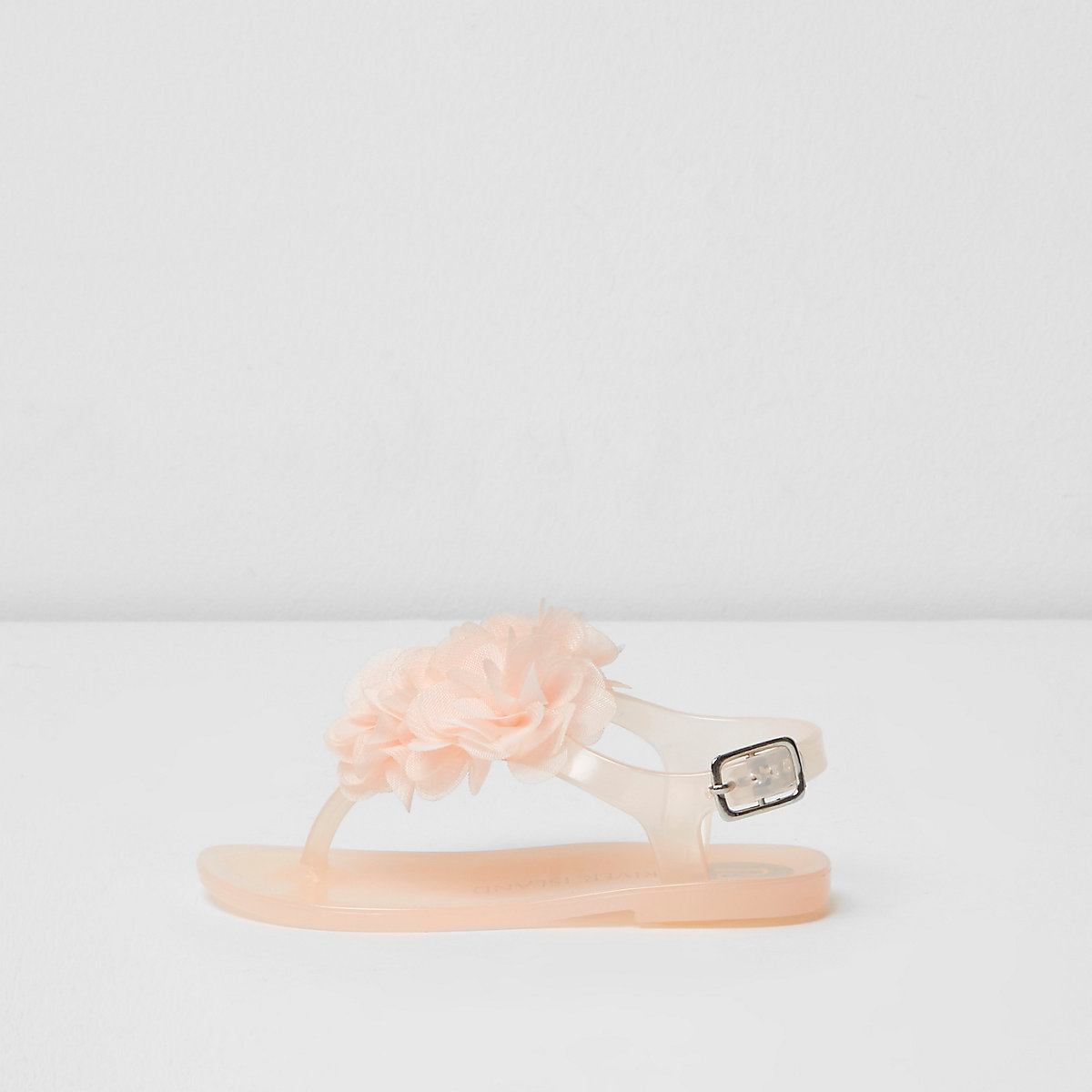 Mini girls light pink corsage jelly sandals