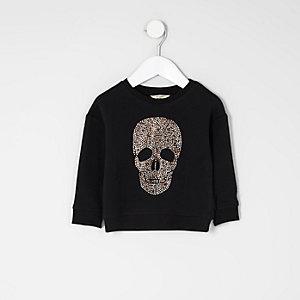 Schwarzes, nietenverziertes Sweatshirt