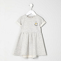 Mini girls grey mini heartbreaker dress