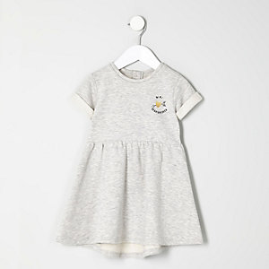 Mini girls grey mini heartbreaker dress