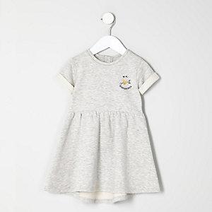Robe mini heartbreaker grise mini fille