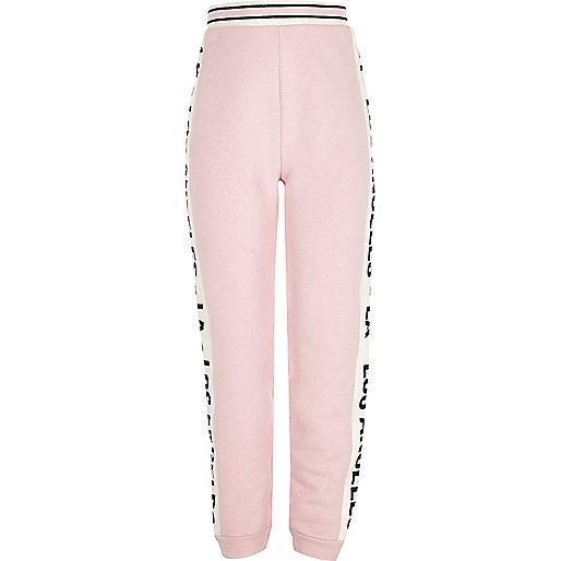Girls pink LA joggers