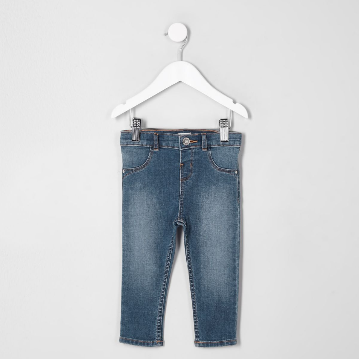 Mini girls blue faded Molly skinny jeans