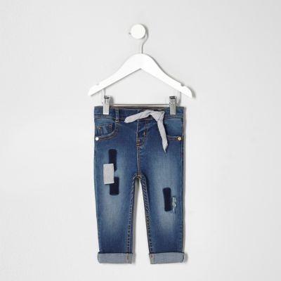 Mini Amelie skinny jeans met patches voor meisjes