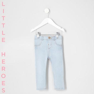 Mini Molly skinny jeans met lichtblauwe wash voor meisjes