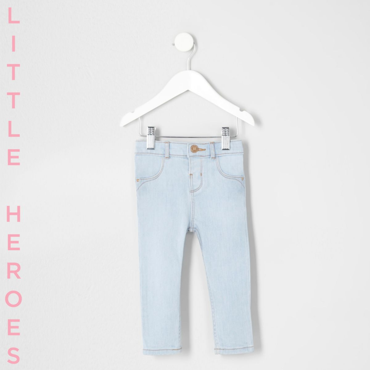 Mini girls light blue wash Molly skinny jeans