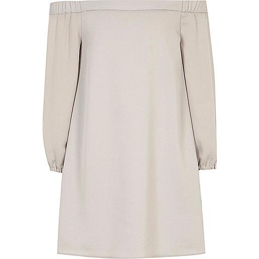 Girls grey bardot swing dress