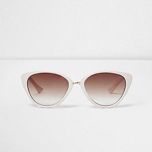 Girls white tortoiseshell cat eye sunglasses