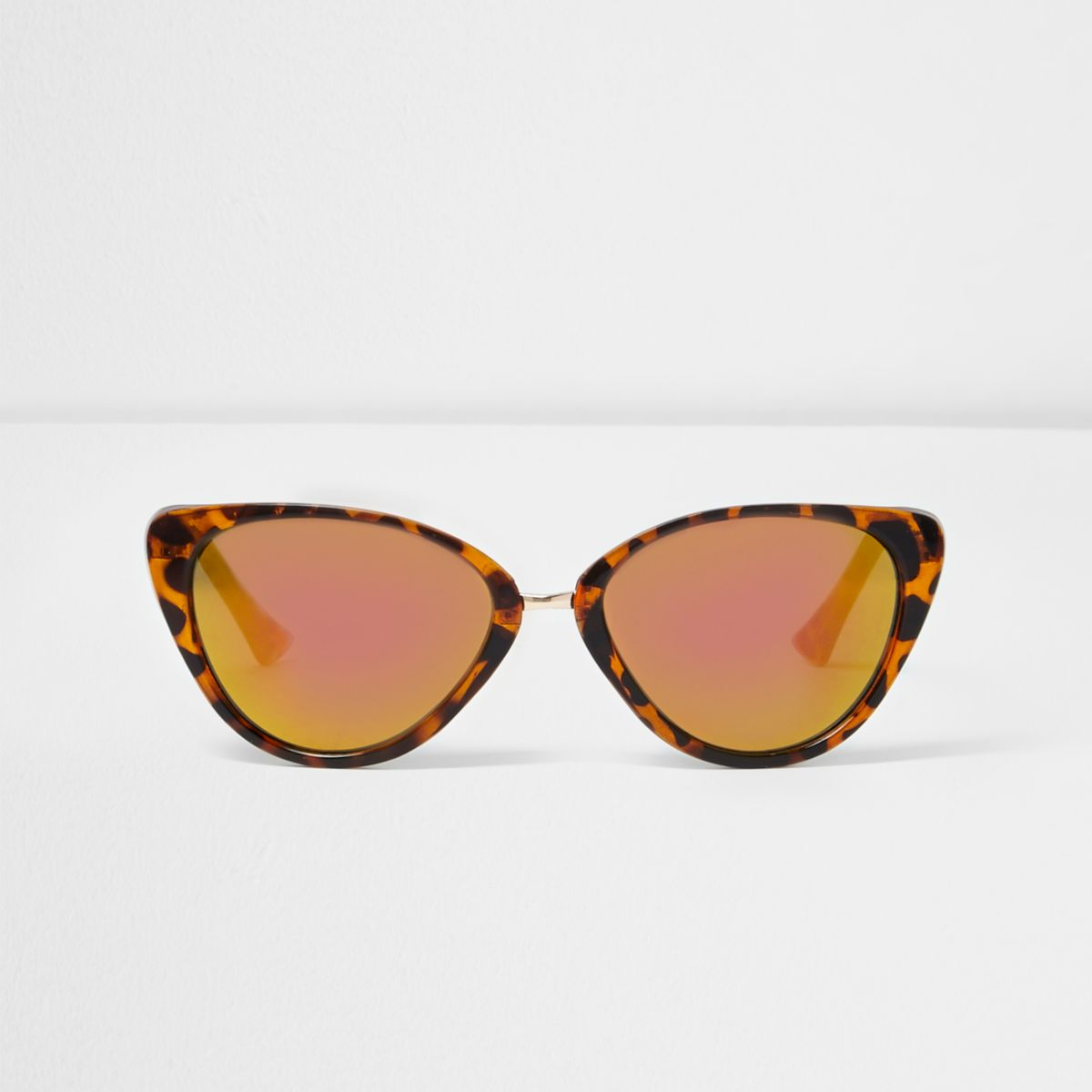 Girls brown tortoiseshell cat eye sunglasses