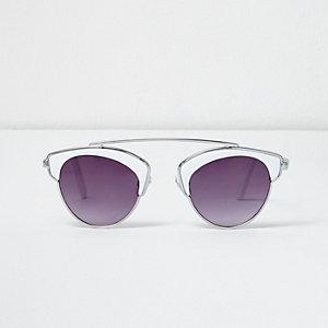 Girls white brow bar sunglasses