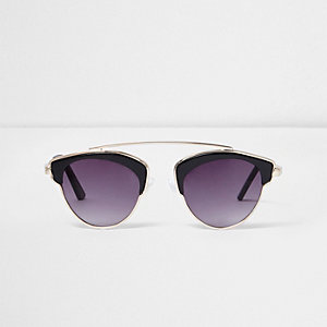 Girls black brow bar sunglasses
