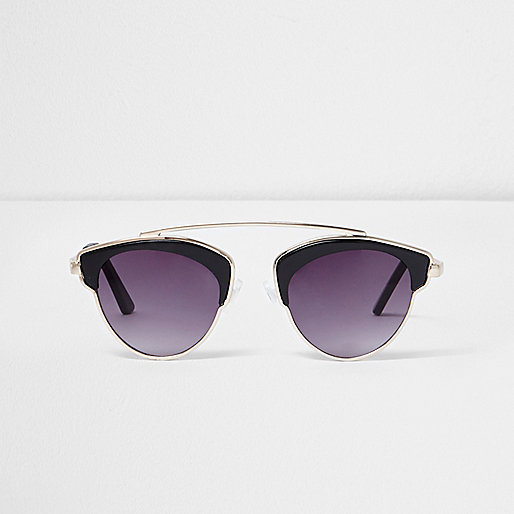 Girls black brow bar sunglasses