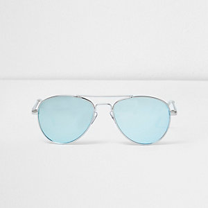 Girls blue aviator sunglasses