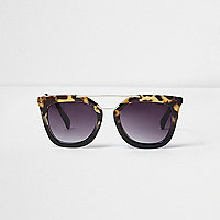 Black tortoiseshell cat eye sunglasses