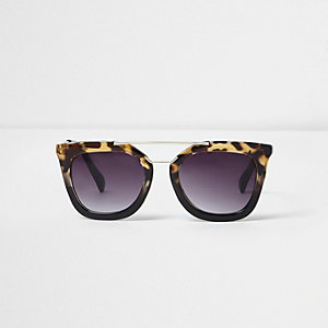 Girls black tortoiseshell cat eye sunglasses
