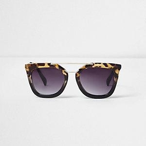 Zwarte tortoise cat-eye-zonnebril voor meisjes