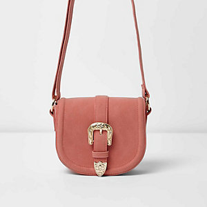 Girls western buckle cross body saddle bag