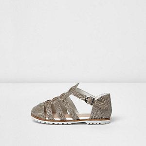 Mini - goudkleurige metallic sandalen voor meisjes