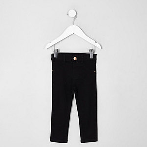 Mini girls black Molly skinny jeans