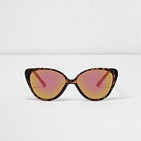 Lunettes de soleil écaille de tortue marron mini fille