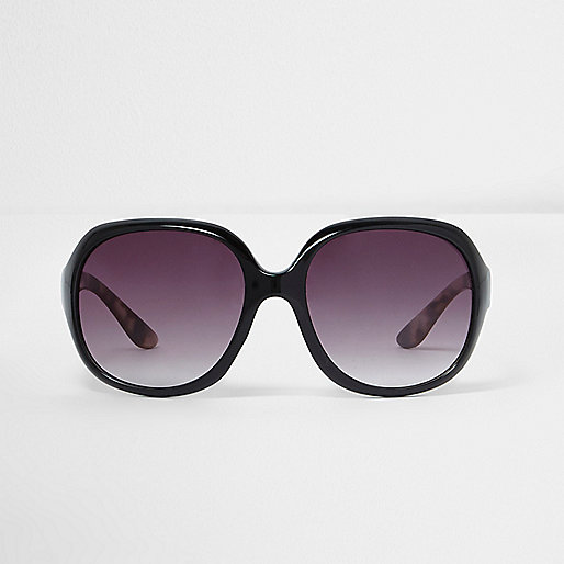 Mini girls black oversized sunglasses