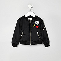 Mini girls black badge bomber jacket
