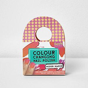 Roze van kleur veranderende nagellak voor meisjes