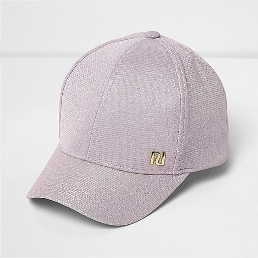 Girls pink glitter cap
