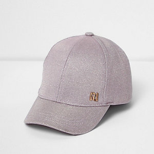 Mini girls pink glitter cap