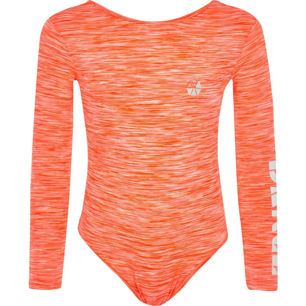 Girls RI Active coral dance bodysuit