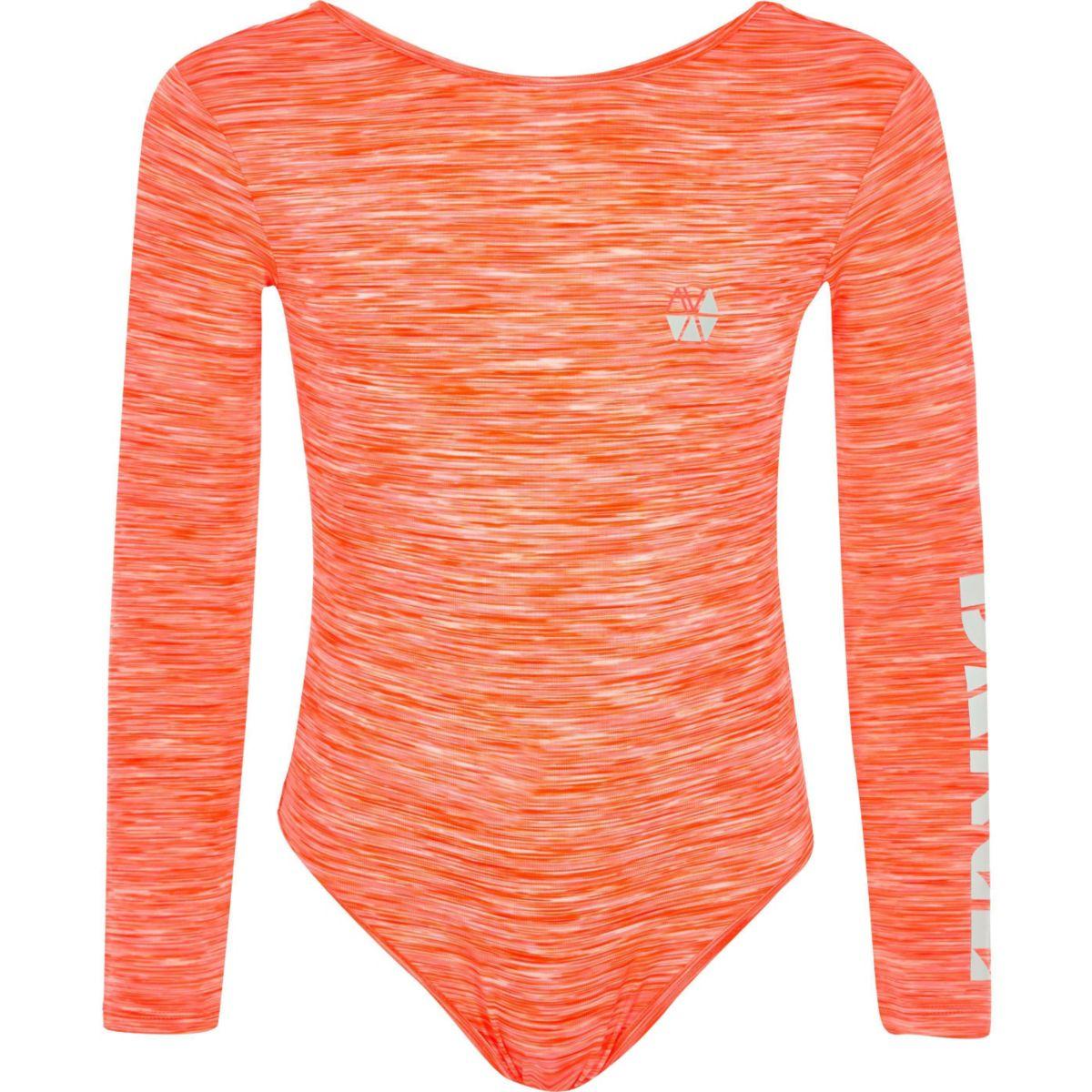 Girls RI Active coral dance bodysuit
