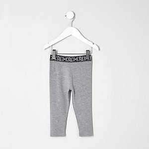 Mini - grijze legging met logo voor meisjes