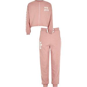 Set met New York pullover en joggingbroek voor meisjes