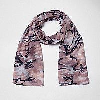 Pinker Schal mit Camouflage-Muster
