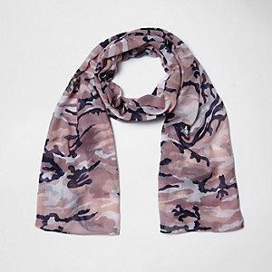 Écharpe camouflage rose pour fille