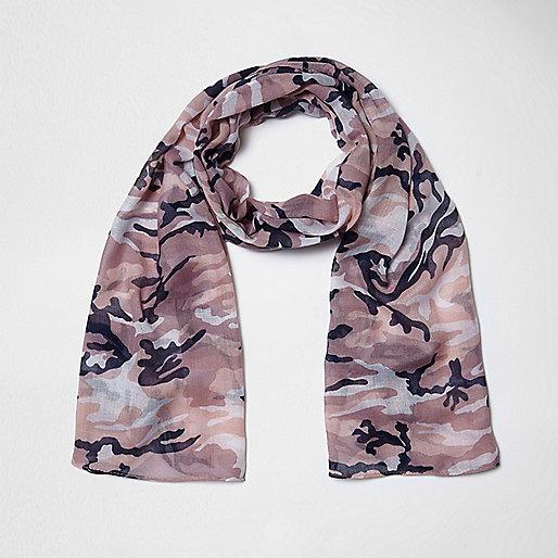 Girls pink camo scarf